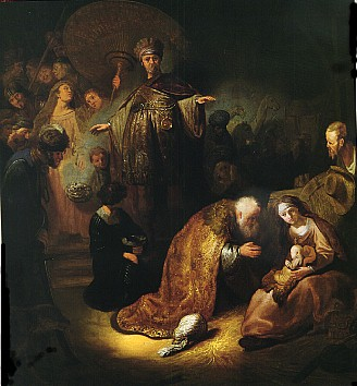 Adoration of the Magi, by Rembrandt